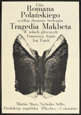 """Oryginalny polski plakat filmowy do filmu angielskiego """"Tragedia Makbeta"""""""
