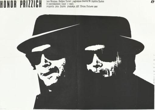 """Oryginalny polski plakat filmowy do filmu amerykańskiego """"Honor Prizzich"""""""