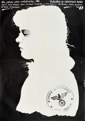 """Oryginalny polski plakat filmowy do filmu czeskiego """"Kukułka w ciemnym lesies"""""""