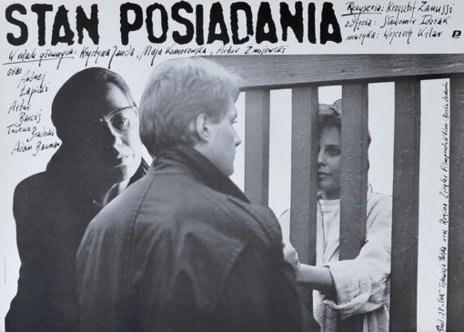 """Oryginalny polski plakat filmowy do filmu polskiego """"Stan posiadania"""""""