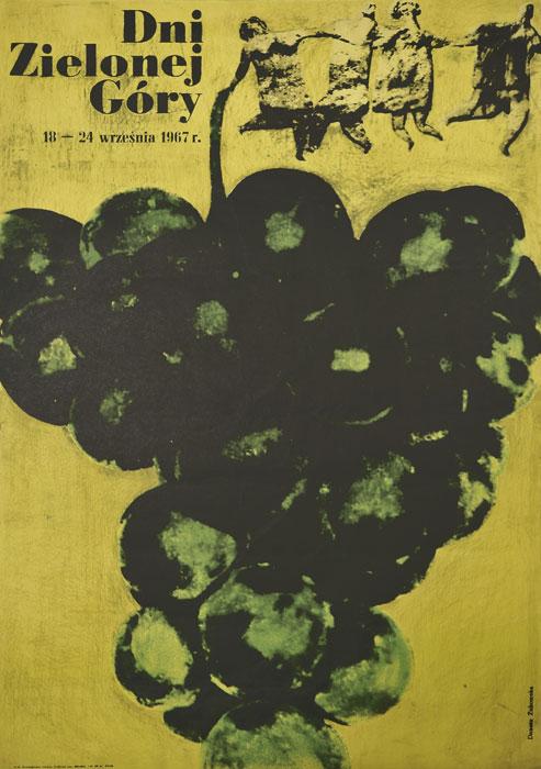 Oryginalny polski plakat reklamujący Dni Zielonej Góry