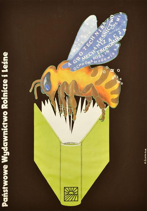 Oryginalny polski plakat reklamowy Państwowe Wydawnictwo Rolnicze i Leśne. Projekt plakatu: DANUTA ŻUKOWSKA