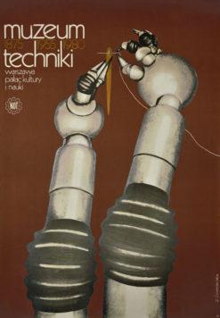 Oryginalny polski plakat wystawowy Muzeum Techniki