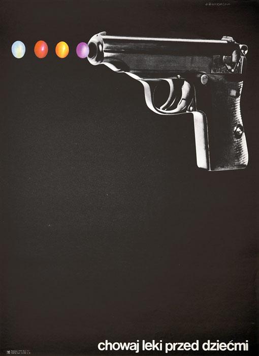"""Oryginalny polski plakat społeczny BHP """"Chowaj leki przed dziećmi"""". Projekt plakatu: DANUTA ŻUKOWSKA 1971 r."""