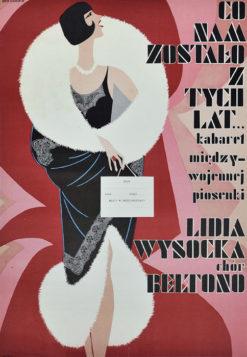 """Oryginalny polski plakat  """"Co nam zostało z tych lat... Kabaret międzywojennej piosenki. Lidia Wysocka"""