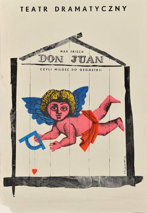 Oryginalny polski plakat teatralny zapowiadający sztukę Don Juan