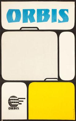 Oryginalny polski plakat turystyczny reklamujący biura podróży Orbis. Projekt: A. KAPUSTA