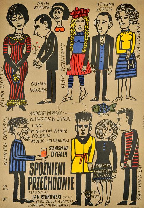 """plakat filmowy """"Spoznieni przechodnie"""" Marian Stachurski"""