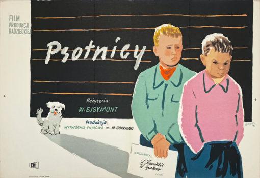 """Oryginalny polski plakat filmowy do filmu radzieckiego """"Psotnicy"""". Reżyseria:"""