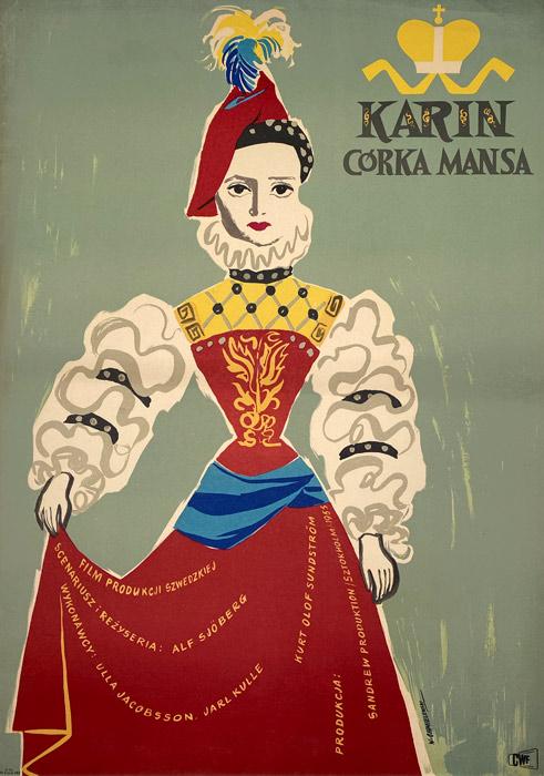 """Oryginalny polski plakat filmowy do radzieckiego filmu """"Karin"""