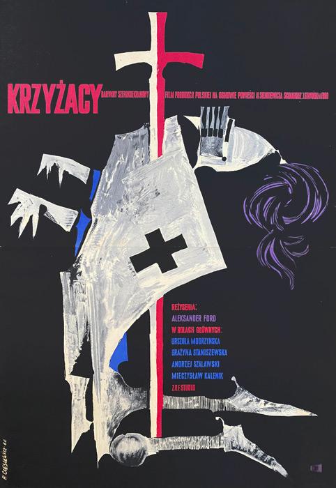 """Plakat filmowy """"Krzyżacy"""" Roman Cieślewicz"""