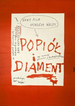 """Plakat filmowy """"Popiół i diament"""" Wojciech Fangor"""