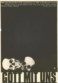 """Oryginalny polski plakat filmowy do jugosłowiańsko włoskiego filmu """"Gott mit uns"""". Reżyseria: Giuliano Mantaldo. Projekt plakatu: JAKUB EROL"""