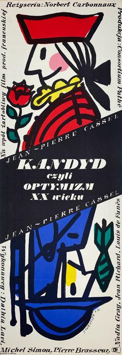 """Oryginalny polski plakat filmowy do francuskiego filmu """"Kandyd"""