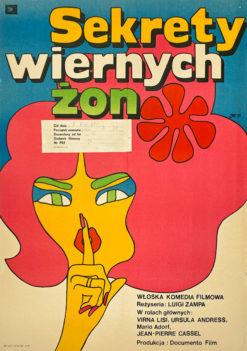 "Original Polish movie poster for Italian film ""Sekrety wiernych żon"". Directed by Luigi Zampa. Poster designed by MACIEJ ŻBIKOWSKI"
