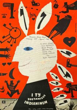 """Plakat filmowy """"I ty zostaniesz indianinem"""" Bohdan Butenko"""