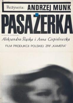 """Plakat filmowy """"Pasażerka"""" Leszek Hołdanowiecz"""