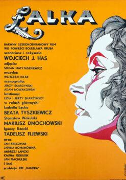 """Polska szkoła plakatu, plakat filmowy vintage PRL """"Lalka"""", Jerzy Skarżyński, 1968"""