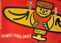 """Polish school of poster, Vintage movie poster PRL """"Latawiec z końca świata"""", Wojciech Wenzel"""