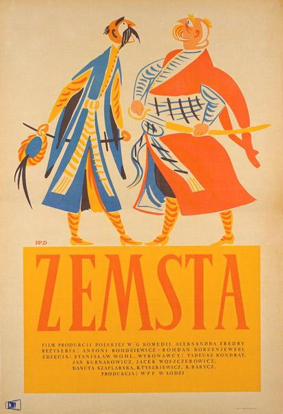 """plakat filmowy """"Zemsta"""" Władysław Daszewski"""