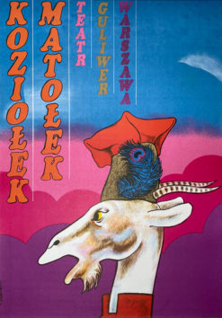 "polish school of poster, theater poster ""Koziołek Matołek"" Tadeusz Jodłowski"
