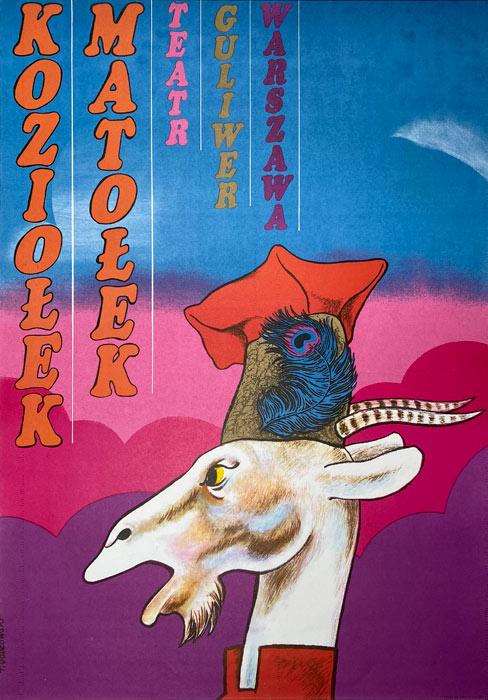 """plakat teatralny """"Koziołek Matołek"""" Tadeusz Jodłowski"""