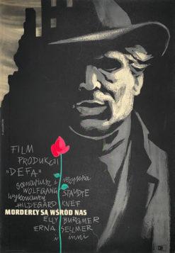 """plakat filmowy """"Mordercy są wśród nas"""" Tadeusz Jodłowski"""