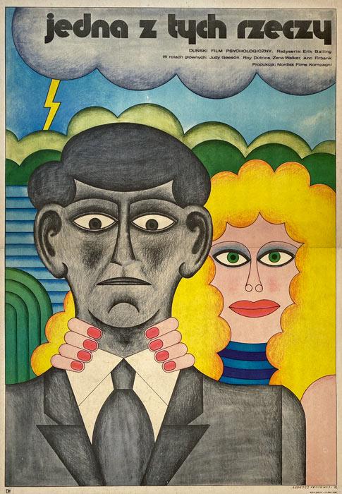 """plakat filmowy """"Jedna z tych rzeczy"""" Andrzej Krajewski"""