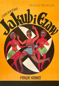 """plakat teatralny """"Jakub i Ezaw"""" Marian Stachurski"""