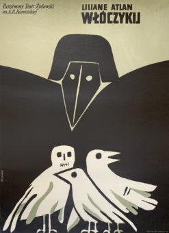 """plakat teatralny """"Włóczykij"""" Marian Stachurski"""