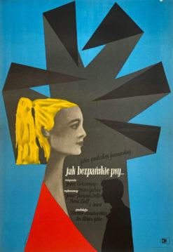 """plakat filmowy """"Jak bezpańskie psy"""" Roman Cieslewicz"""