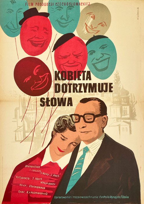 """plakat filmowy """"Kobieta dotrzymuje słowa"""" Wiktor Górka"""
