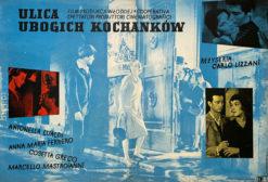 """Plakat filmowy """"ulica ubogich kochankow"""" Zygmunt Anczykowski_"""