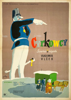 "Plakat filmowy ""Cyrkowcy"" Karol Ferster Charlie"
