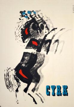 """Plakat cyrkowy """"Konie"""" Wiktor Górka"""