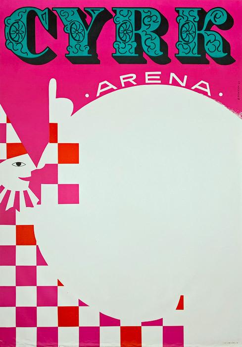 """Plakat cyrkowy """"Arena"""" Bolesław Penciak"""