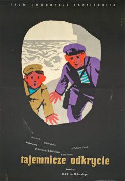 """Plakat filmowy """"tajemnicze odkrycie"""" Wiktor Gorka"""