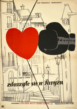 """Plakat filmowy """"Zdarzylo sie w Paryzu"""" Wiktor Gorka"""