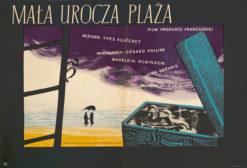 """Polska szkoła plakatu """"Mała urocza plaża"""" Andrzej Heidrich"""