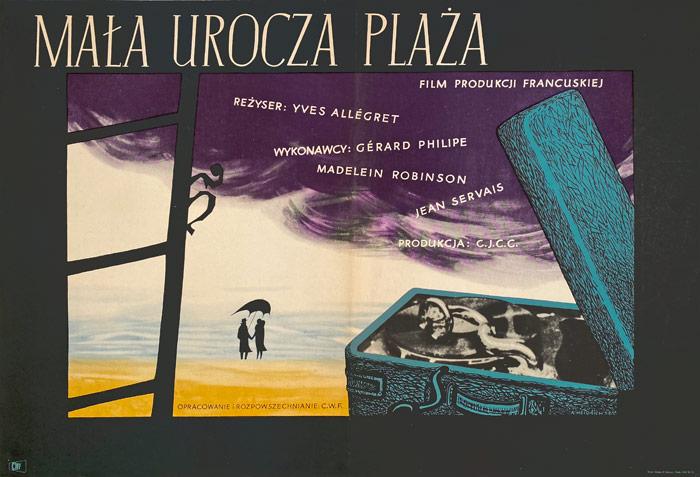 """Plakat filmowy """"Mała urocza plaża"""" Andrzej Heidrich"""