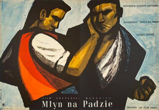 "Plakat filmowy ""Młyn na Padzie"" Maciej Hibner"