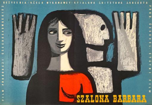 "Plakat filmowy ""Szalona Barbara"" Maciej Hibner"