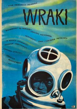 """Plakat filmowy """"Wraki"""" Władysław Janiszewski"""