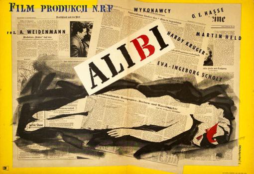 """Plakat filmowy """"Alibi"""" Jerzy jaworowski"""