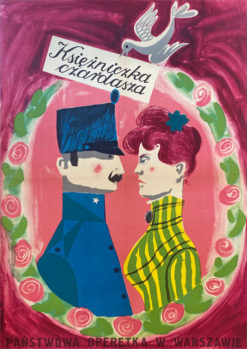 "plakat teatralny ""Księżniczka czardasza"" Józef Mroszczak"
