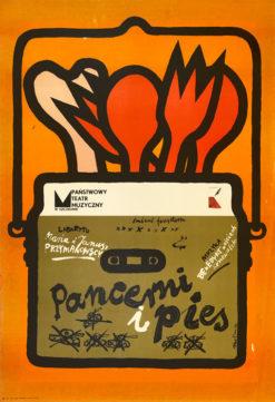 "plakat teatralny ""Czterej pancerni i pies"""