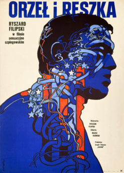 """Plakat filmowy """"Orzeł i reszka"""" Waldemar Świerzy"""
