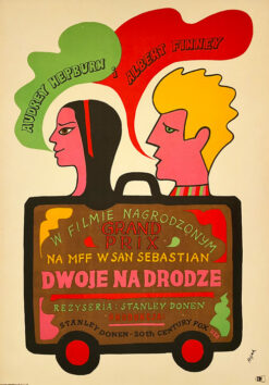 "vintage movie poster ""Dwoje na drodze"" Jerzy Flisak"