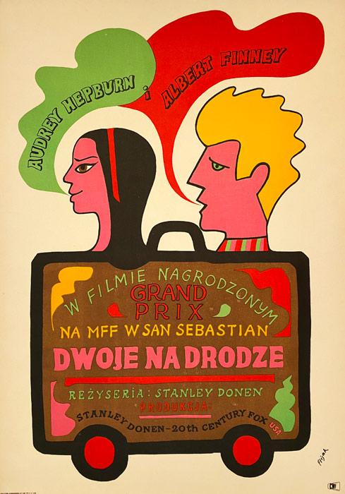 """Plakat filmowy """"Dwoje na drodze"""" Jerzy Flisak"""