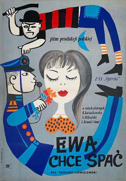 """Plakat filmowy """"Ewa chce spać"""" Marian Satchurski"""